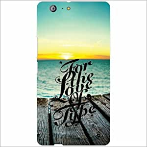 Gionee Marathon M5 Back Cover - For My Love Designer Cases