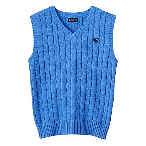 Chaps V-Neck 100% Cotton Sweater Vest