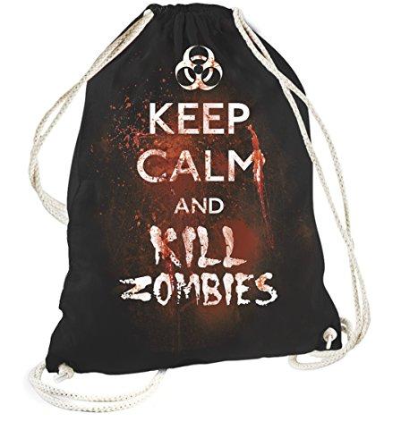 Rock Style Keep Calm And kill zombies 702469Sports Gym Bags nero taglia unica