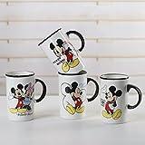 Satyam Kraft Mickey Mouse Random design Coffee Mugs for Gift 1(one) peice (340 ml)