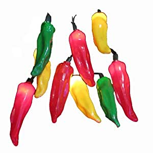 kurt adler 10 light 4 inch multi chili pepper. Black Bedroom Furniture Sets. Home Design Ideas