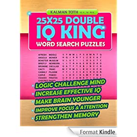 25x25 Double IQ KING Word Search Puzzles (English Edition)