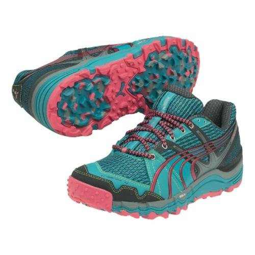 Puma Women's Complete Trailfox 4 Running Shoe,Dark Shadow/Baltic/Fluorescent Pink,8.5 B US