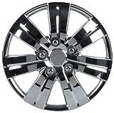 Unitec 75162 Premium- Radzierblenden 4er- Satz Monaco, chrom 35,6 cm (14 Zoll)