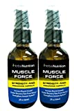 #1 Rated MUSCLE FORCE| Two Bottle Pack!|200mg Proprietary Growth Factor Formula|Improve Strength and Recovery|2 oz Spray Bottle|Free Shipping!