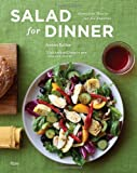 Salad for Dinner book cover. Green background with a bowl of salad and red drink.