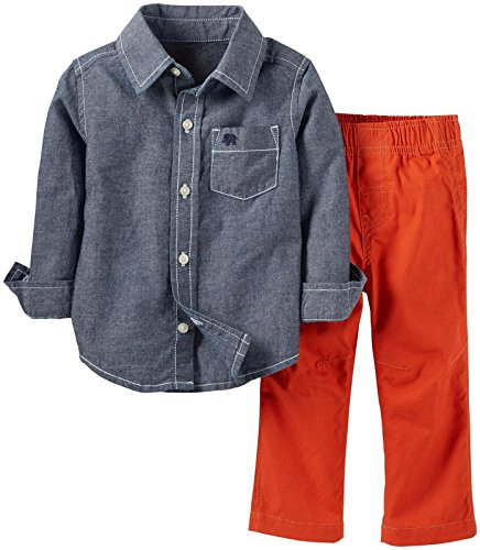 Carter'S Baby Boys' 2 Piece Denim Top Set (Baby) - Denim - 3 Months front-926901