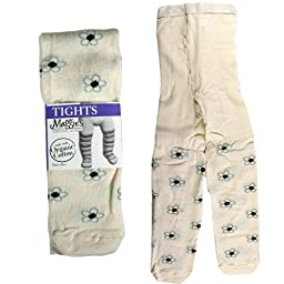 Maggie's Functional Organics Tights Flower Pattern 6-12 months
