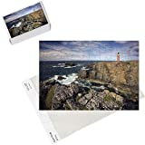 Photo Jigsaw Puzzle of Lighthouse and cliffs at Butt of Lewis, Isle of Lewis, Outer Hebrides, Scotland from Robert Harding