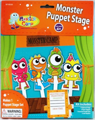 Monster Puppet Stage by Toner Crafts