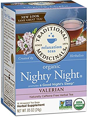 Traditional Medicinals Organic Nighty Night Valerian Tea, 16 Tea Bags from Traditional Medicinals