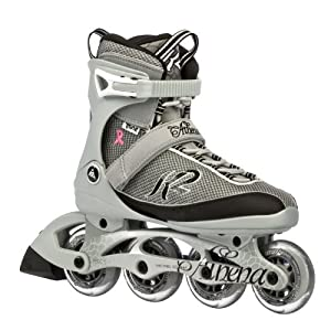 K2 Sports Women's Athena Fitness 2012 Inline Skates (Silver/Black, 5)