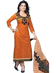 Ramdev Emperio Multi Color Women's Cotton Printed Dress Material(UnStitched)