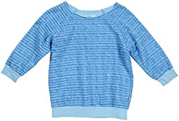 T2Love Little Girls\' Striped Sweat Top (Toddler/Kid) - Sky - 4