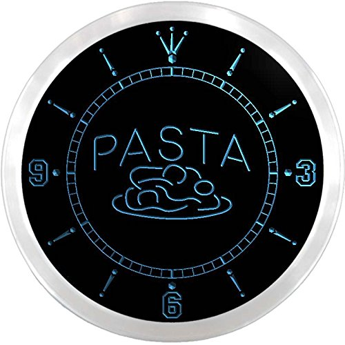 nc0586-b OPEN Pasta Cafe Restaurant Pizza Neon Sign LED Wall Clock (Pizza Pasta Sign compare prices)