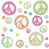 RoomMates RMK1437SCS Glitter Peace Signs Peel &amp; Stick Wall Decals Picture