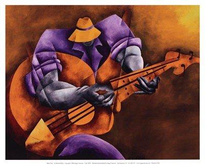 Blues Time High Quality Museum Wrap Canvas Print Philemon Reid 10X8
