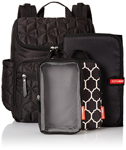 skip hop baby forma pack and go diaper bag backpack with insulated changing pad and bottle. Black Bedroom Furniture Sets. Home Design Ideas