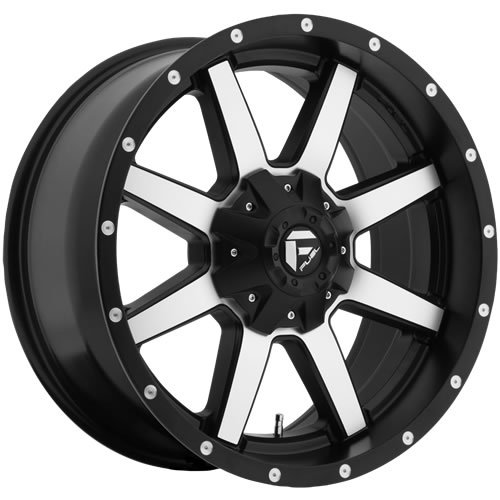 Fuel Maverick 18 Machined Black Wheel / Rim 8x6.5 with a 1mm Offset and a 125.2 Hub Bore. Partnumber D53718908250