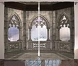"""デジタル印刷カーテン寝室リビングKids Youth部屋2つのパネルカーテンセット 108"""" W By 84"""" L p_15431_Gothic_108x84_fba"""