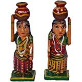 Joshi Arts Glossy Festive Decor Showpiece Set Of 2(Blue Pottery,10.16X5X5cm,Glossy)
