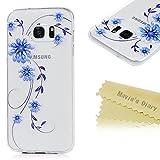 Samsung Galaxy S7 Edge ケース MAVIS'S DIARY カバー クリア 耐衝撃 保護キャップ スマホケース TPUケース 胡蝶3
