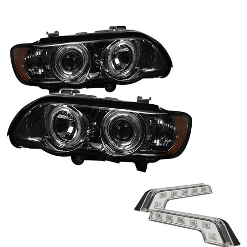 Sold in Pairs Anzo USA 111152 Ford Ranger 1 Pc Projector Halo Black Clear Amber Headlight Assembly