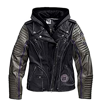 Harley-Davidson Women's Speedy 3IN1 Leather Biker Jacket, Black 97048