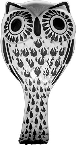 Whimsical Ceramic Owl Spoon Rest- (Black) by TableTop by HE