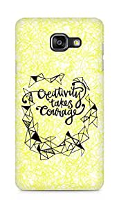 AMEZ creativity takes courage Back Cover For Samsung Galaxy A5 (2016 EDITION)