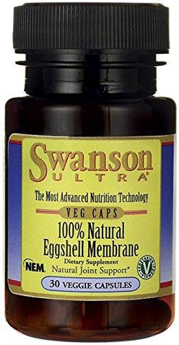 Swanson Ultra 100% Natural Eggshell Membrane (30 Vegetarian Capsules)
