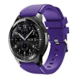 Sunface Plum Bands for Gear S3 Frontier/Classic Watch Silicone Bracelet, Sports Silicone Band Strap Replacement Wristband For Samsung Gear S3 Frontier/S3 Classic