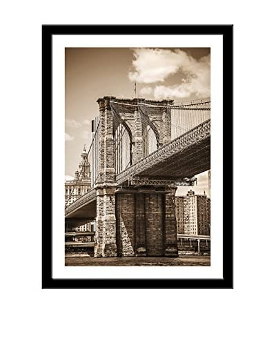 Photos.com by Getty Images Brooklyn Bridge With View On Downtown Manhattan Artwork On Framed Paper