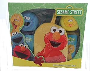 Sesame Street Bathtime Fun Set - 2 x Bubble Bath & Sponges