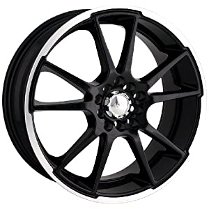 Akita Racing AK-35 435 Black Wheel with Machined Lip (17x7