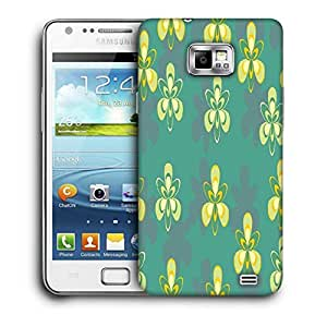 Snoogg Pattern Design In Green Printed Protective Phone Back Case Cover For Samsung Galaxy S2 / S II