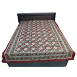 """60X90"""" Bagru Print Block Print Double Bed Spread- Double Bed Cover- Double Bed Sheet - Online Shopping For Home... - B00G8V52IK"""