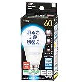 オーム電機 LED電球(60W相当/869lm/昼光色/E26/全方向配光300°/密閉形器具対応/調光機能付)