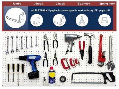Wallpeg 80 Pc. Assorted Black Peg Hooks - Garage Storage & Tool Organizer front-62510
