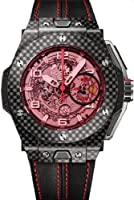 Hublot Ferrari Carbon Red Magic Automatic Openwork Dial Black Carbon Fiber Mens Watch 401.QX.0123.VR from Hublot
