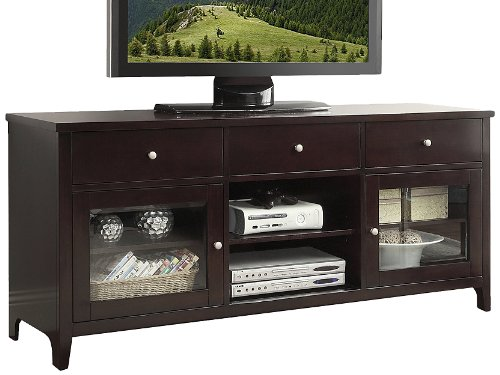 Abbyson Living Aussie Wood Tv Console 64 Inch Solid Oak Lowe 39 S Lowes Electric Fireplace