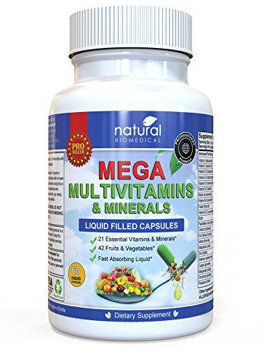 [MULTIVITAMIN FOR WOMEN & MINERAL SUPPLEMENT Best Daily Multi-Vitamins Multivitamins Liquid Capsules] (Adult Megaman Costumes)