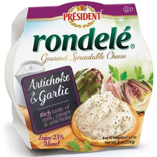 rondele-gourmet-artichoke-and-garlic-cheese-spread-8-ounce-12-per-case
