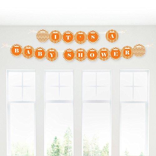 Chevron Orange - Baby Shower Garland Banner front-146068