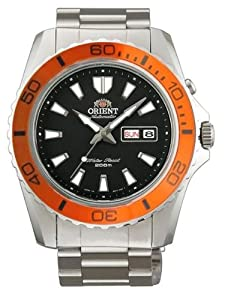 Orient Automatic Dive Watch CEM75004B (Orange Bezel Mako II)