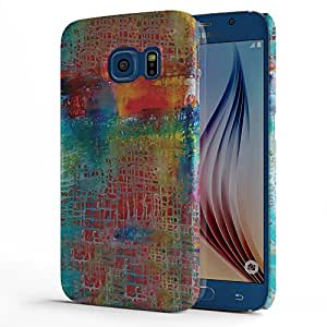 Koveru Designer Printed Protective Snap-On Durable Plastic Back Shell Case Cover for Samsung Galaxy S6 - Colored brushes