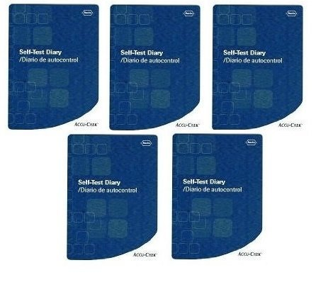 Accu-Chek Self-Test Diary (Pack of 5 Accu Chek Log Book's)