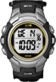 Timex Men's T5K455 1440 Sports Digital Black/Silver-Tone/Orange Fast Wrap Strap Watch