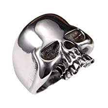buy 316L Stainless Steel Men'S Cool Skull Head Ring Punk New Jewelry