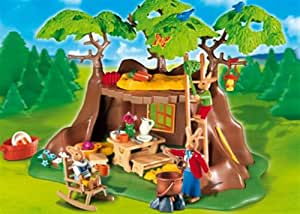 Playmobil bunnies treehouse toys games for Playmobil modernes haus 9266